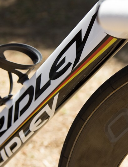 More German National Champion stripes for Greipel