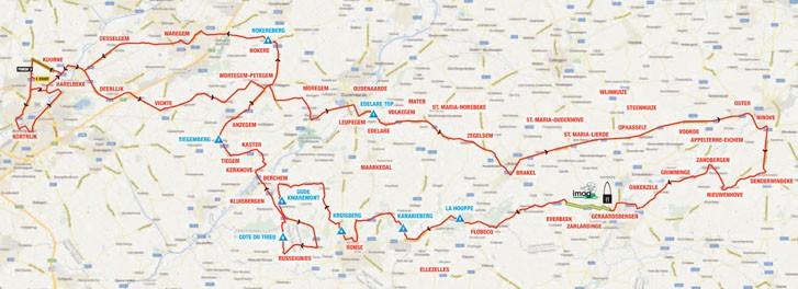 Kuurne-Brussel-Kuurne il tracciato