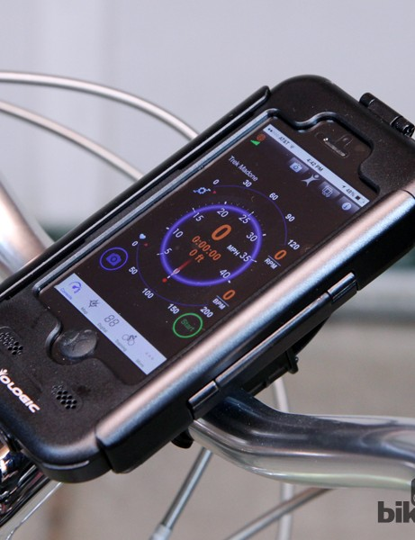 Biologic's Bike Mount Plus for iPhone 5/5S seals your smartphone in a rain and splashproof case