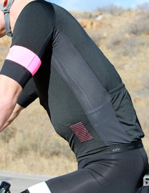 The mesh side panels add a little ventilation, and their stretchiness matches the rest of the jersey