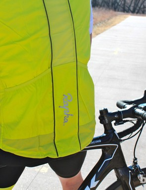 The windproof gilet has two zippered pockets and packs down relatively compactly