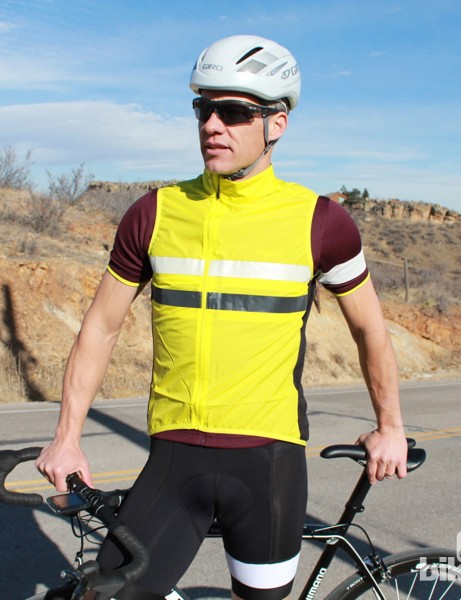 The Brevet Jersey comes with a high-vis gilet