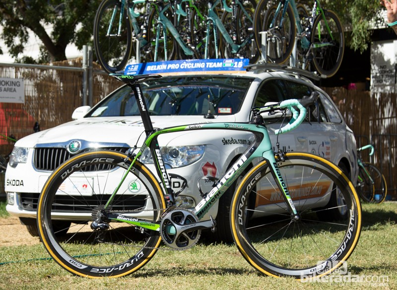 Robert Gesink's Belkin Pro Cycling team bike, the Bianchi Oltre XR2