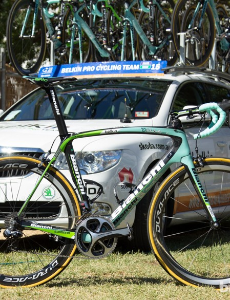 Robert Gesink's Belkin Pro Cycling team bike, the Bianchi Oltre XR2