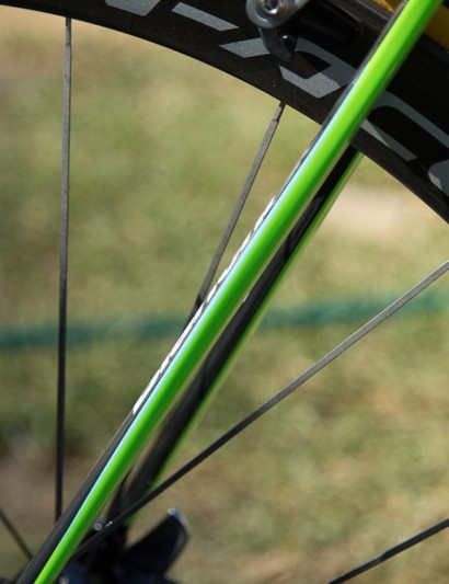 The ultra thin seatstays (UTSS) have been widened for greater frame stiffness