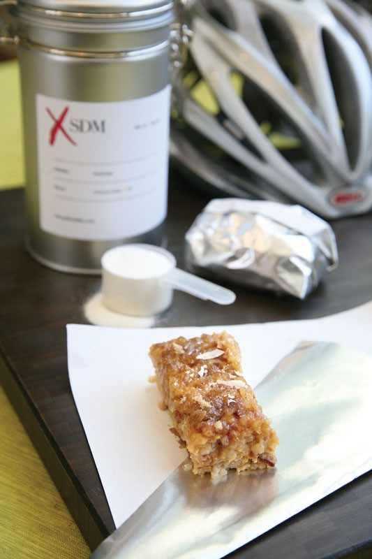 Allen Lim's bacon and egg rice cakes have become a popular recipe in the pro peloton