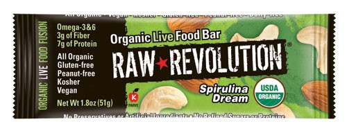 Made of mostly raw ingredients, Raw Revolution bars claim to offer greater nutritional value for their size