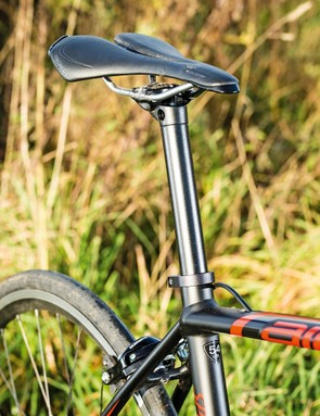 Thin tubes and a narrow seatpost keep comfort levels high