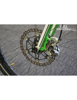 Hope M4 Evo front disc brake and floating rotor