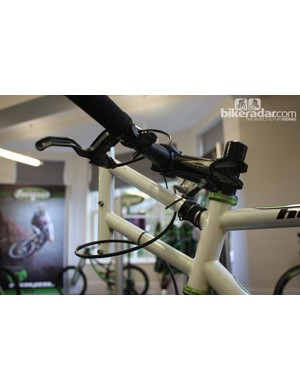 The bar at the front of the bike was also used to tow the bike up to a speed, something that is necessary because of the incredibly high gear ratios involved