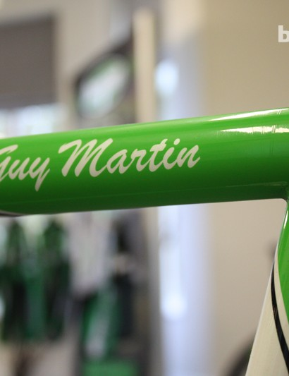 Guy's name sits proudly next to the wrap-over seatstay design - a signature feature of many Brian Rourke frames