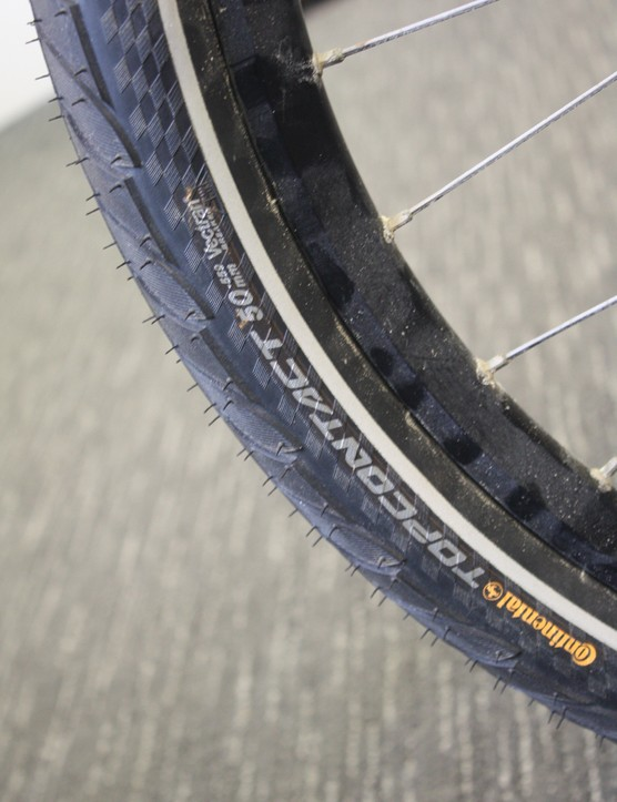 Continental's balloon-like 50mm Top Contact  tyres were used