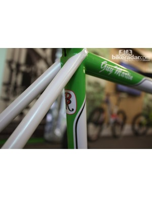 The Rourke logo sits below his signature wrap-over seatstays