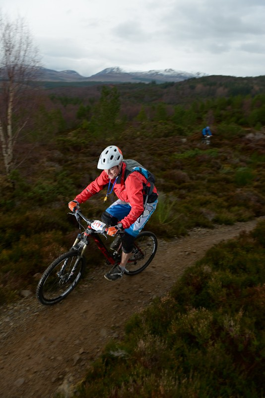 The course began with a fireroad climb, then turned into a mix of undulating terrain, rocky traverses and singletrack descending