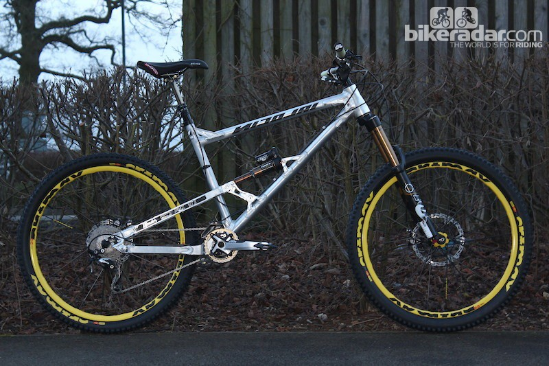 Chris Porter's custom-built Nicolai Ion features a wheelbase of around 50in along with a super slack 63-degree head angle and lengthy front centre