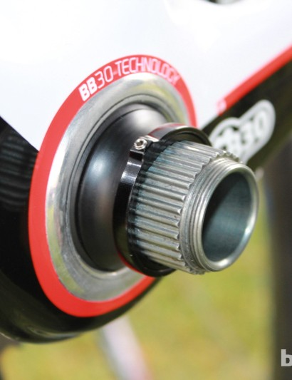 Despite the spacers, Campagnolo claims that the Comp Ultra retains the company's low Q factor