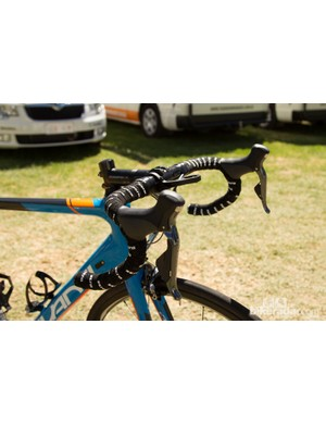 Haig's bike features a rather basic Easton EA70 handlebar