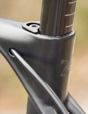 The Cell Omeo seat clamp is one of the cleanest parts of the bike