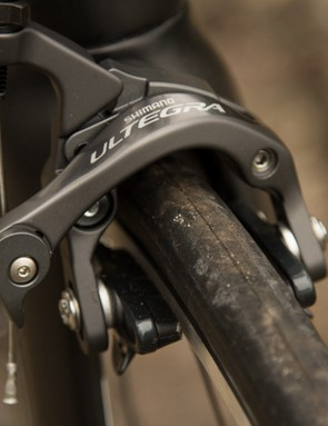 Cell haven't skimped on the brakes - sticking with the proven control of Shimano Ultegra callipers