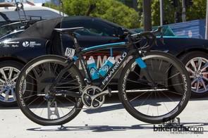 Ritchie Porte's Tour Down Under Pinarello Dogma: more blue paint