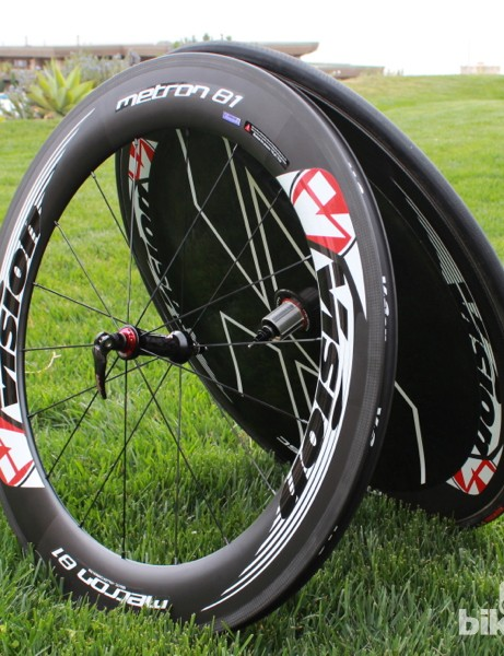 The Metron 81 was the first new-style aero wheel released from Vision a few years ago