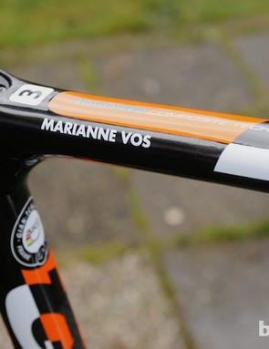Vos had three TCX Disc bikes and several with cantilever brakes as back up for the worlds