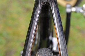 The bridgeless seatstays offer plenty of clearance and nowhere for mud to snag