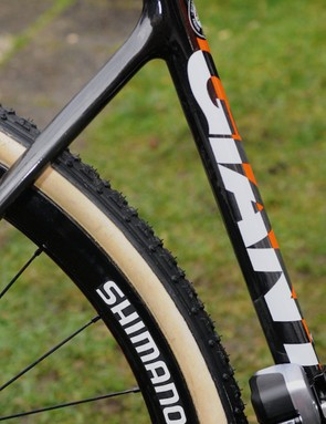 We've seen these Shimano 35mm 28-hole carbon tubular rims before, but they still have no name and they're still a mystery