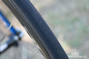 Vittoria supply its Corsa Evo CX tyres in a 25mm width