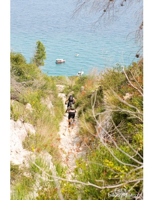 The trails in parts of north-west Italy take you right down to the coase