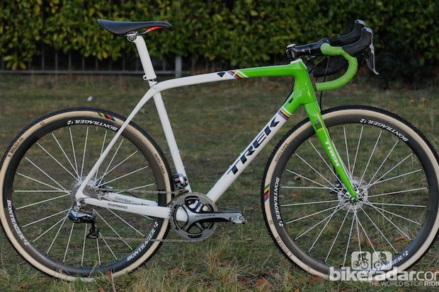 Sven Nys has both cantilever and disc options of his new Trek Boone, here's the disc version
