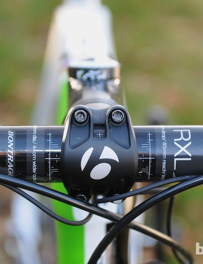 Bontrager's carbon Isozone bar includes gel inserts to reduce vibration