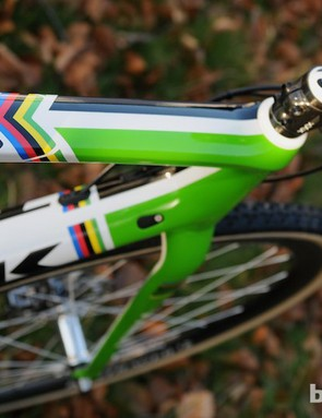 As reigning World Cyclo Cross Champion, this disc Boone 9 bore the rainbow stripes. We wonder if they'll remain on the bike now