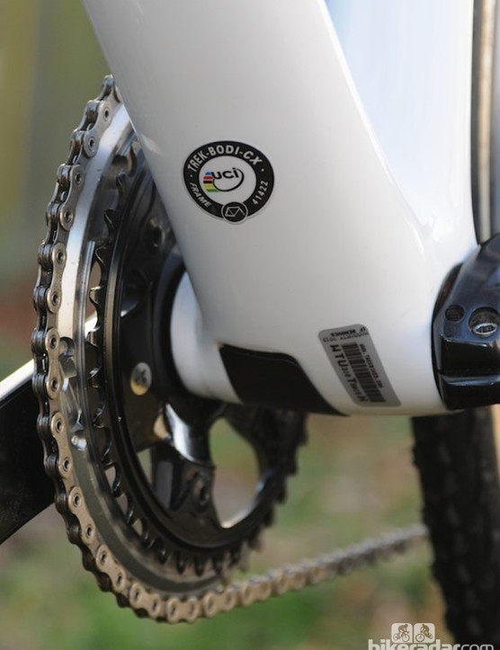 The UCI certification sticker for the Boone Disc frameset
