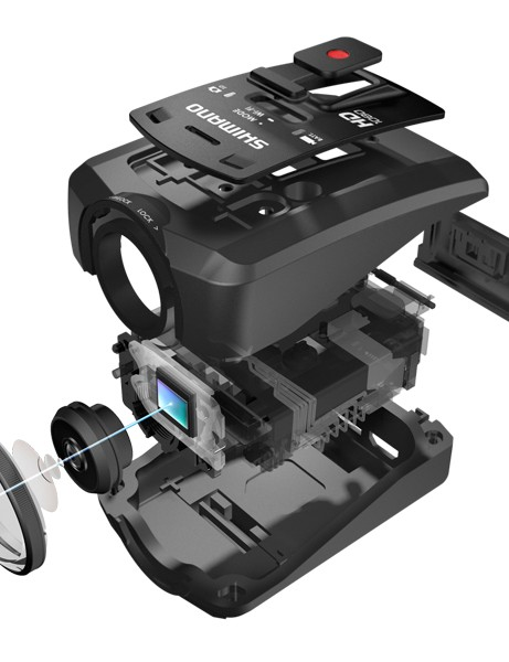 Shimano CM-1000 Sport Camera - exploded view