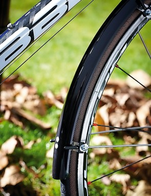 Mudguards and 25mm tyres: you'll stay dry and comfortable