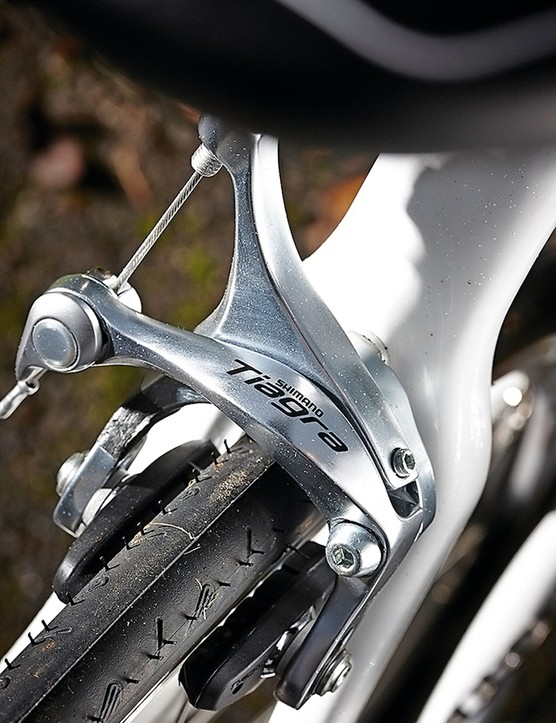 Tiagra's brakes are a step up from those often seen at this price