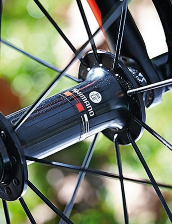 Shimano's R501 wheels are basic but should prove sturdy
