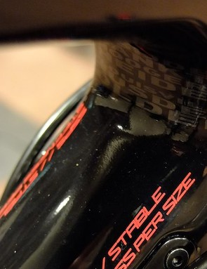 Some classic cyclocross races are commemorated behind the head tube