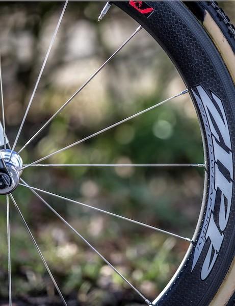 Stybar races on Zipp 404 Firecrest tubular wheels