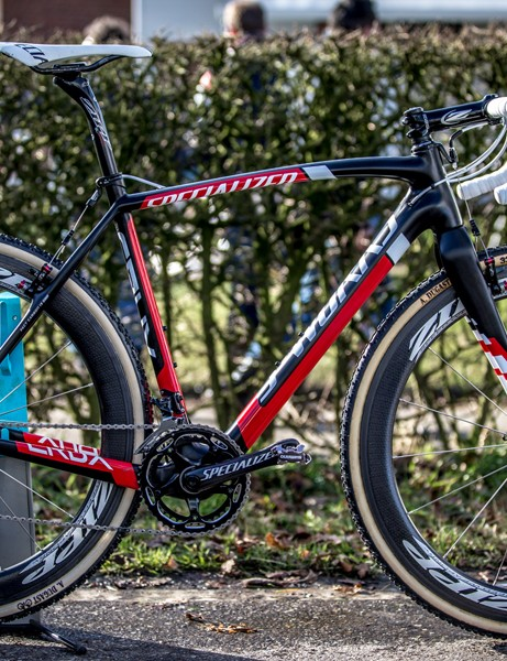 Introduced in 2012, the S-Worx CruX was designed with Stybar's input to be a 'Tarmac for the dirt'
