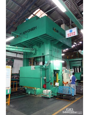Giant has several of these massive hydroforming presses on site