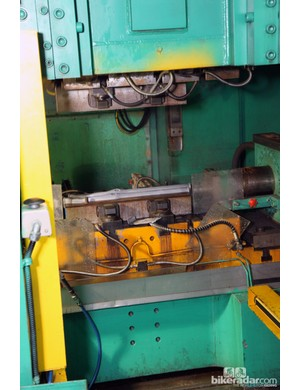 The machinery involved in hydroforming is absolutely enormous compared with the parts that are being formed