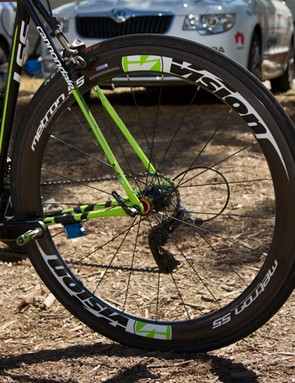 The Cannondale team spent 2013 testing Vision Metron wheels. The Metron 55 pictured here is now available to everyone