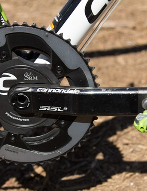 Cannondale supplies its own Hollowgram SiSL2 crankset with SRM and SRAM-22 rings - expect to pay a cool US$3,000 for a set like this