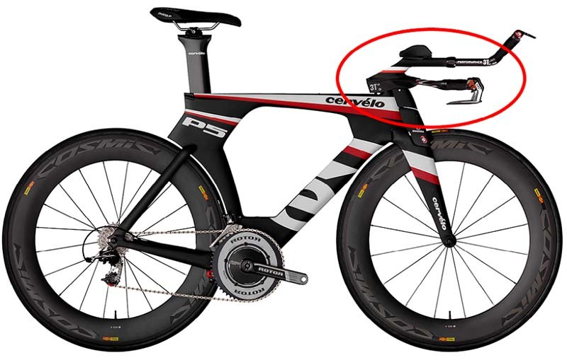 Cervélo P5 bikes are being recalled because of the 3T Aduro aerobar