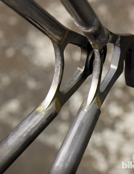 Check out the neatly scalloped ends on the stays of these Mosaic steel frames