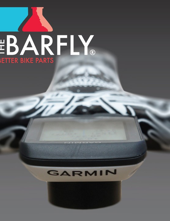 As with Bar Fly's most recent mounts, the new Spoon places the Garmin computer head inline with the stem