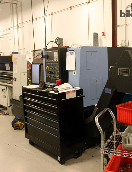 Not surprisingly, Wheels Manufacturing's factory floor is chock-full of CNC lathes and milling machines