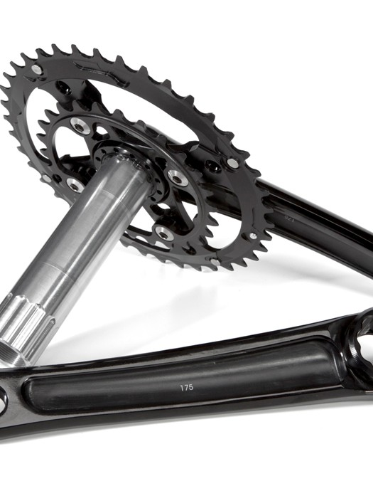 Wiggle Black Series components include this 40-26 crankset